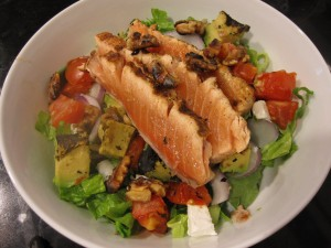 salmon final salad 300x225 New Harvard Study comparing diets.